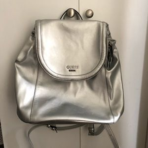 GUESS silver backpack